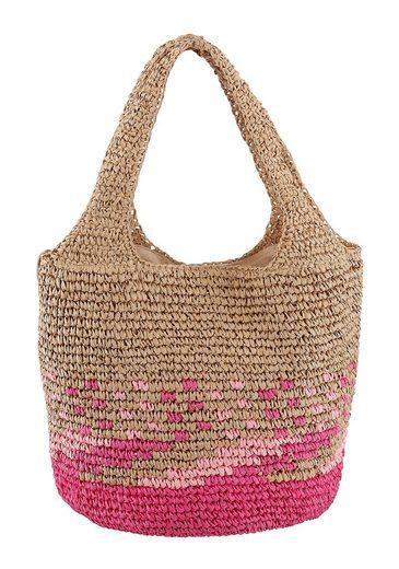 Esprit Schultertasche »Ruth shopper«, aus natürlichen Materialien