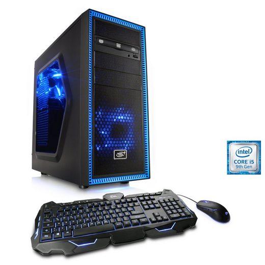 CSL Gaming PC, Intel Core i5-9400F, AMD RX 580, 16 GB DDR4, SSD »Speed T5589 Windows 10 Home«