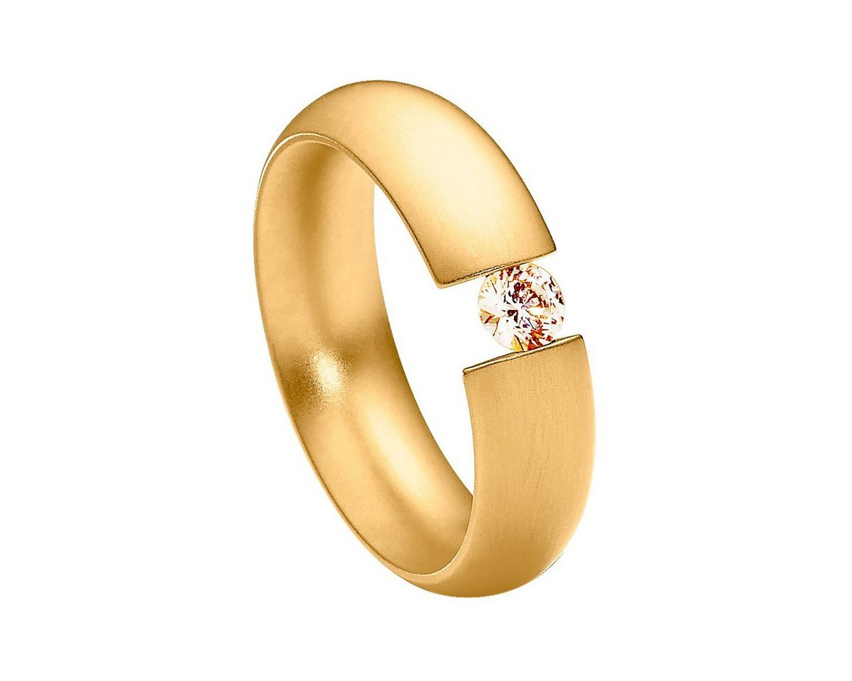 Heideman Fingerring »Intensio Gewölbt Vergoldet« Ring mit Stein als Spannring gearbeitet   Schmuck > Ringe > Goldringe   Gelb   Heideman