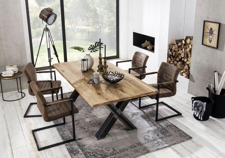 SIT Baumkantentisch »Tables« mit Platte aus Wildeiche natur