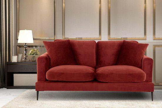 Leonique 2-Sitzer »Cozy«, mit losen Kissen und Metallbeinen