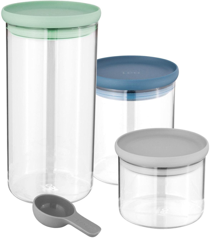 Holz//Glas Vorratsdose Zuckerdose mit Deckel Gewürzdose Salzdose Glasbehälter