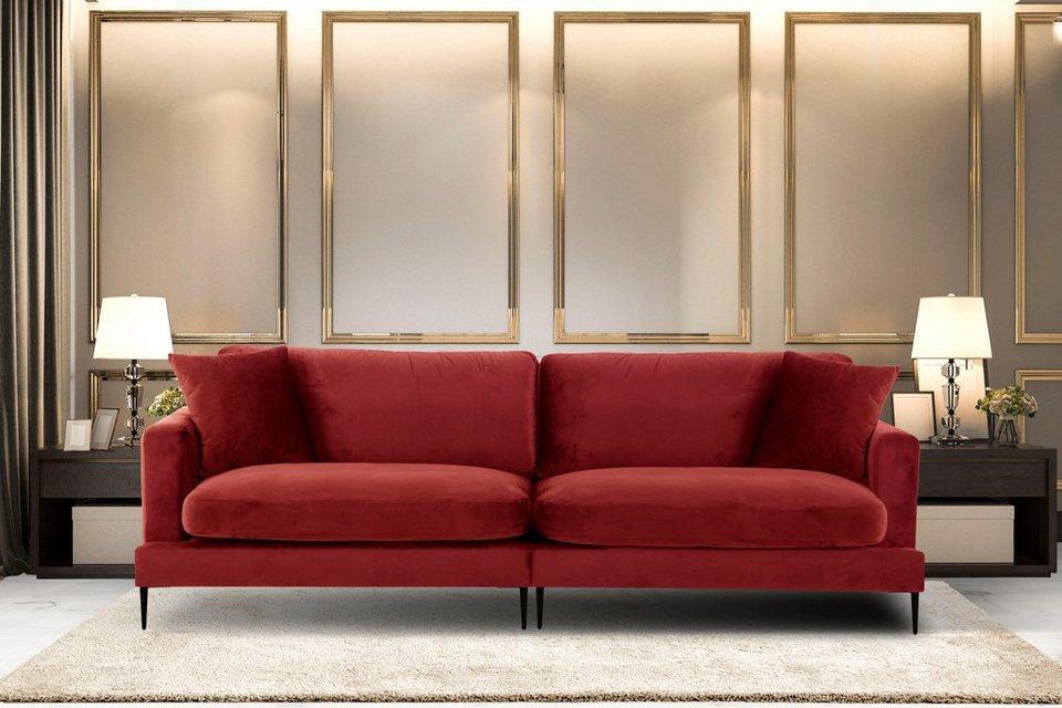 Leonique Big Sofa Cozy Mit Losen Kissen Und Metallbeinen Online