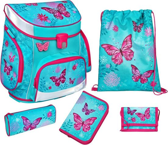 Scooli Schulranzen »Campus Fit, Butterfly« (Set)