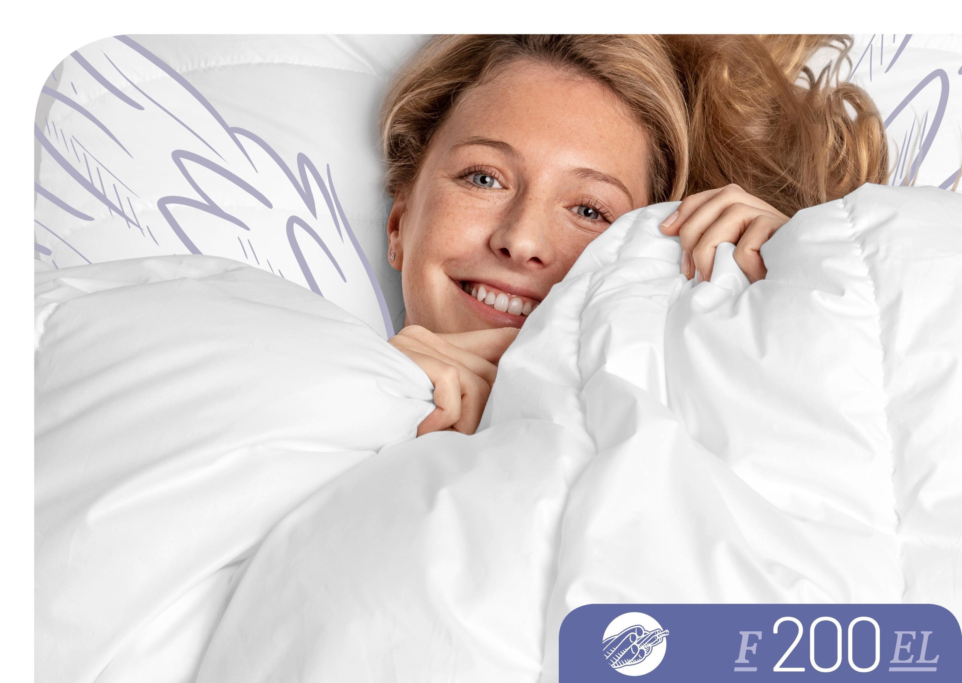 Baumwollbettdecke, »F200«, Schlafstil, extraleicht, (1-tlg)