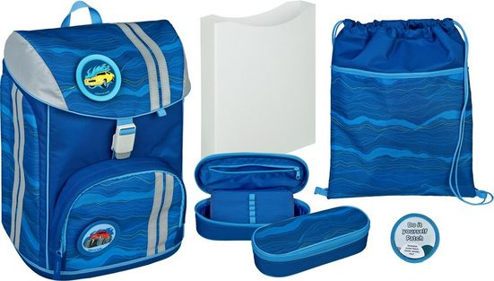 Scooli Schulrucksack »FlexMax, Blue Wave« (Set)