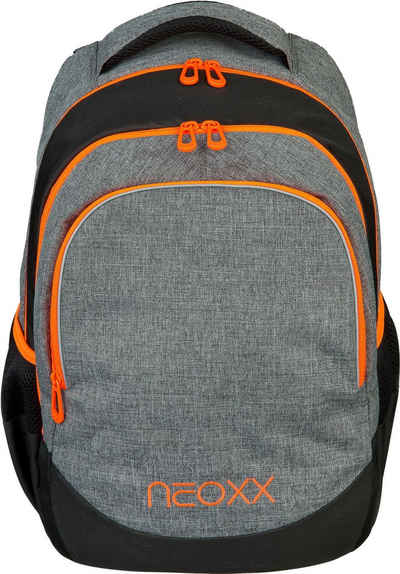 neoxx Schulrucksack »Fly, Stay orange«, aus recycelten PET-Flaschen