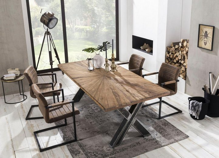 SIT Esstisch »Romanteaka« mit sonnenförmig gemusterter Tischplatte