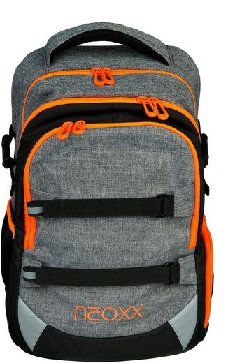 neoxx Schulrucksack »Active, Stay orange«