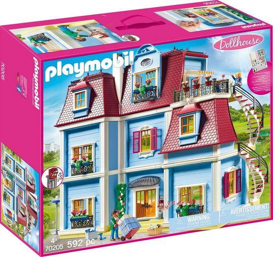 Playmobil® Konstruktions-Spielset »Mein Großes Puppenhaus (70205), Dollhouse«, (592 St), Made in Germany