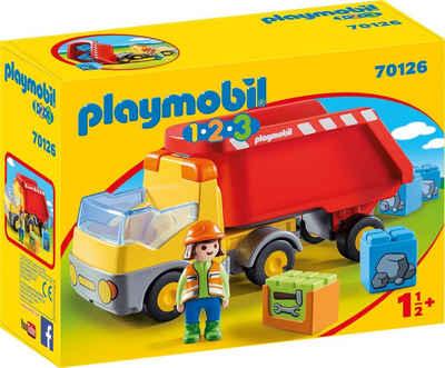 Playmobil® Konstruktions-Spielset »Kipplaster (70126), Playmobil 123«, Made in Europe