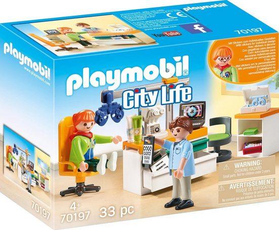 Playmobil® Konstruktions-Spielset »Beim Facharzt: Augenarzt (70197), City Life«, (33 St), Made in Europe