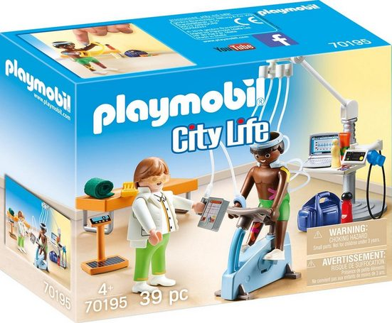 Playmobil® Konstruktions-Spielset »Beim Facharzt: Physiotherapeut (70195), City Life«, (39 St), Made in Europe