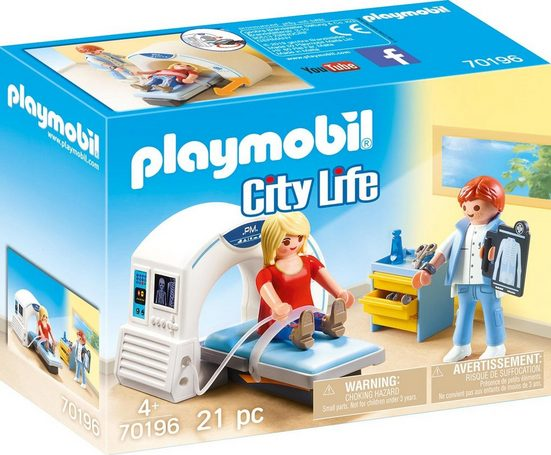 Playmobil® Konstruktions-Spielset »Beim Facharzt: Radiologe (70196), City Life«, (21 St), Made in Europe