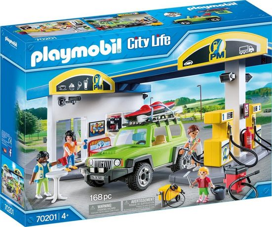 Playmobil® Konstruktions-Spielset »Große Tankstelle (70201), City Life«, Kunststoff, (168 St)