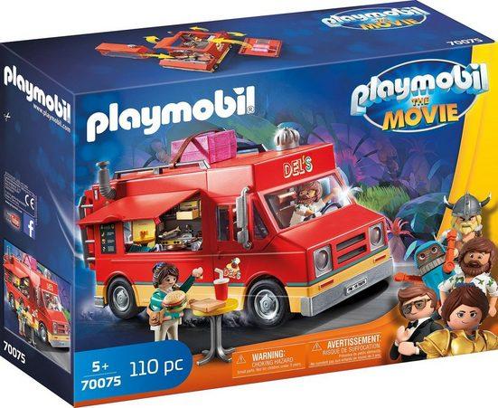 Playmobil® Konstruktions-Spielset »Del's Food Truck (70075), THE MOVIE«