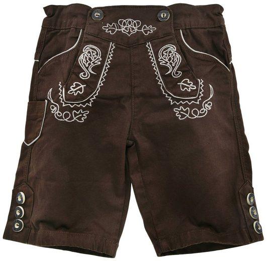 BONDI Bermudas »Jungen Hose Lederhosen Rebel, 29951 Braun - Kinder Trachten Shorts mit Stickereien«