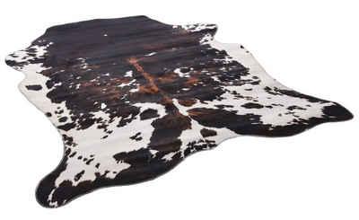 Fellteppich »Emilia«, Gino Falcone, fellförmig, Höhe 3 mm, Kunstfell, gedruckte Kuhfell-Optik, Wohnzimmer