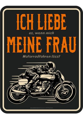 RAHMENLOS Paveikslas su lustigem Motorrad-Print