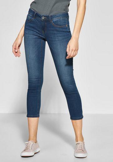 STREET ONE Slim-fit-Jeans mit kontrastigen Nähten