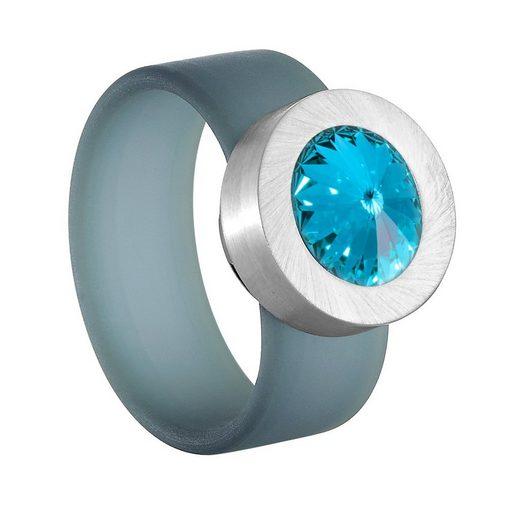 Heideman Fingerring »Colori Blau« mit Swarovski Kristall Austauschbar