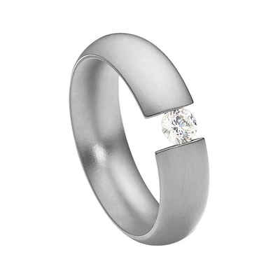 Heideman Fingerring »Intensio Glanzmatt« (1-tlg), Ring mit Stein als Spannring gearbeitet