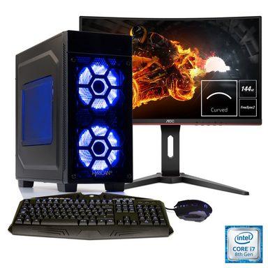 HYRICAN Gaming PC i7-8086K, RTX 2070, 32GB RAM + 69 cm (27'') TFT »Striker Anniversary SET1850«