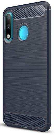 PEDEA Handytasche »Carbon Look Case für Huawei P30 Lite«