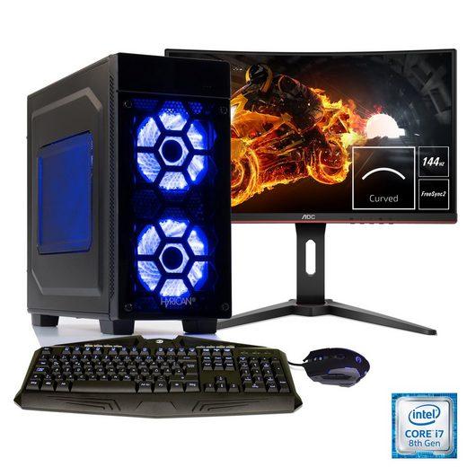 HYRICAN Gaming PC i7-8086K, RTX 2060, 32GB RAM + 60 cm (24'') TFT »Striker Anniversary SET1847«