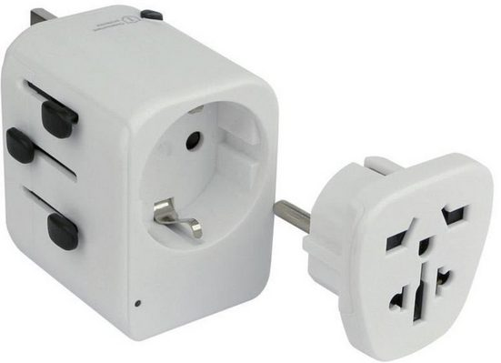 "fontastic Lader »Universal Welt-Adapter ""GLOB"" mit 2 USB-Ports«"