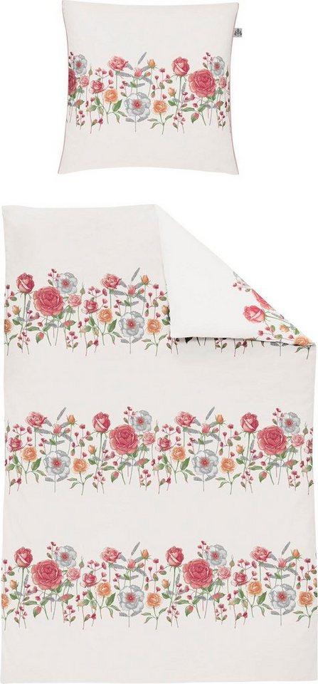 Bettwasche Capri K 8084 Irisette Mit Floraler Blumenbordure Online Kaufen Otto