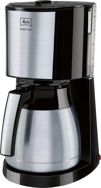 Melitta Filterkaffeemaschine Enjoy Top Therm, 1,25l Kaffeekanne, Papierfilter 1x4, mit Thermkanne aus Edelstahl