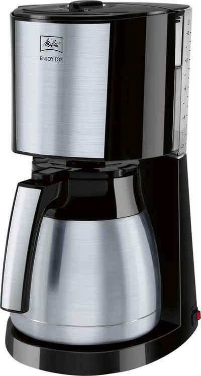 Melitta Filterkaffeemaschine Enjoy® Top Therm, 1,25l Kaffeekanne, Papierfilter 1x4, mit Thermkanne aus Edelstahl