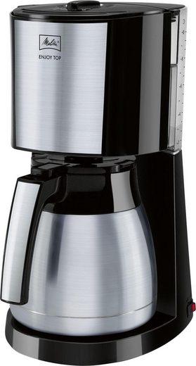 Melitta Filterkaffeemaschine Enjoy Top Therm 1017-08, 1,25l Kaffeekanne, Papierfilter 1x4, mit Thermkanne aus Edelstahl
