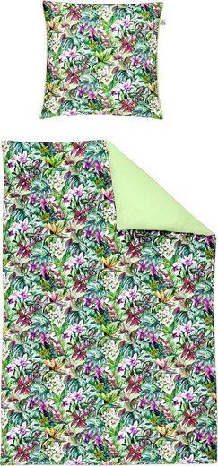 Bettwäsche »Juwel-K 8893«, Irisette, mit tropischem Allover-Blumenprint