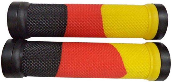 Point Fahrradlenkergriff (2-St., Paar), schwarz-rot-gold optik