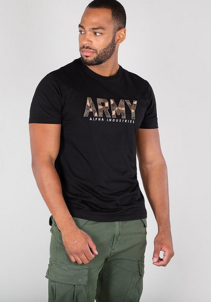 alpha industries t shirt army camo t kaufen otto. Black Bedroom Furniture Sets. Home Design Ideas