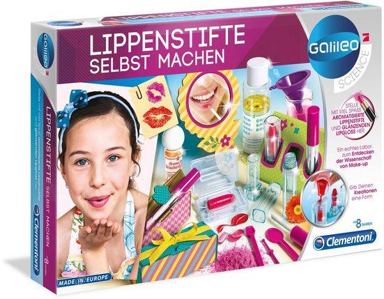 Clementoni® Experimentierkasten »Galileo - Lippenstifte selbst machen«