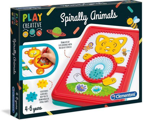 Clementoni® Malvorlage »Play Creative Gestalte Spiral-Tierchen«