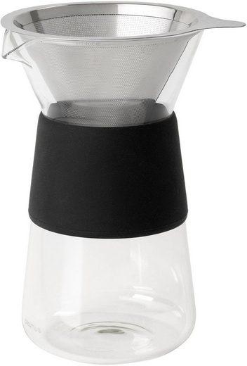 BLOMUS Kaffeebereiter GRANEO S, 0,4l Kaffeekanne, Permanentfilter, für handgefilterten Kaffee, Edelstahl/Glas