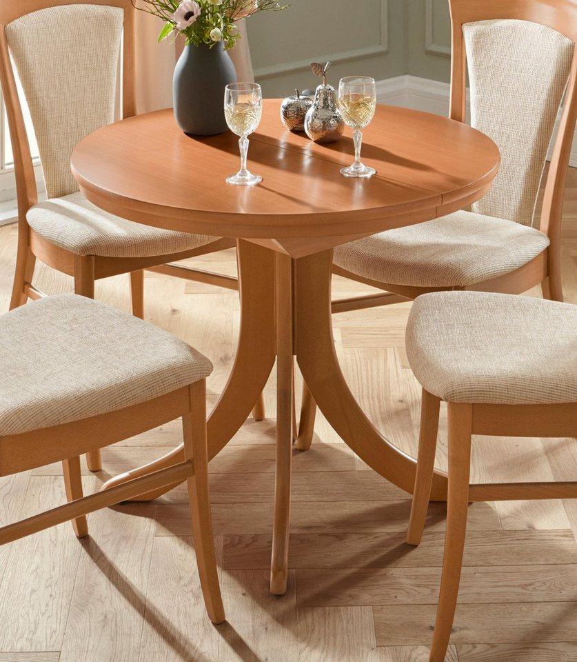 esstisch rund gerd 90 breite 90 120 cm kaufen otto. Black Bedroom Furniture Sets. Home Design Ideas