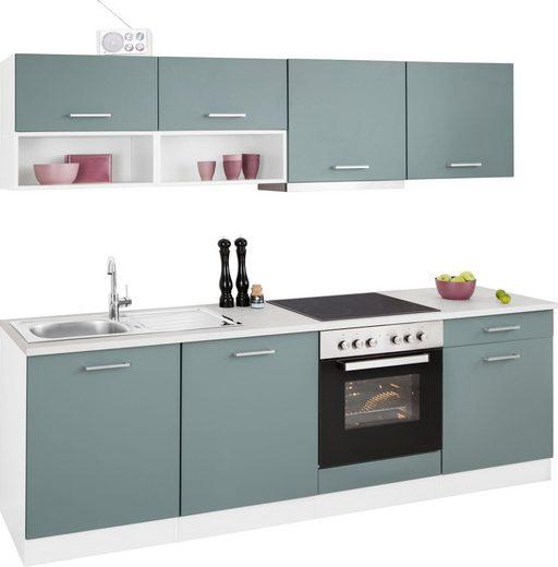 HELD MÖBEL Küchenzeile »Visby«, mit E-Geräten, Breite 240 cm