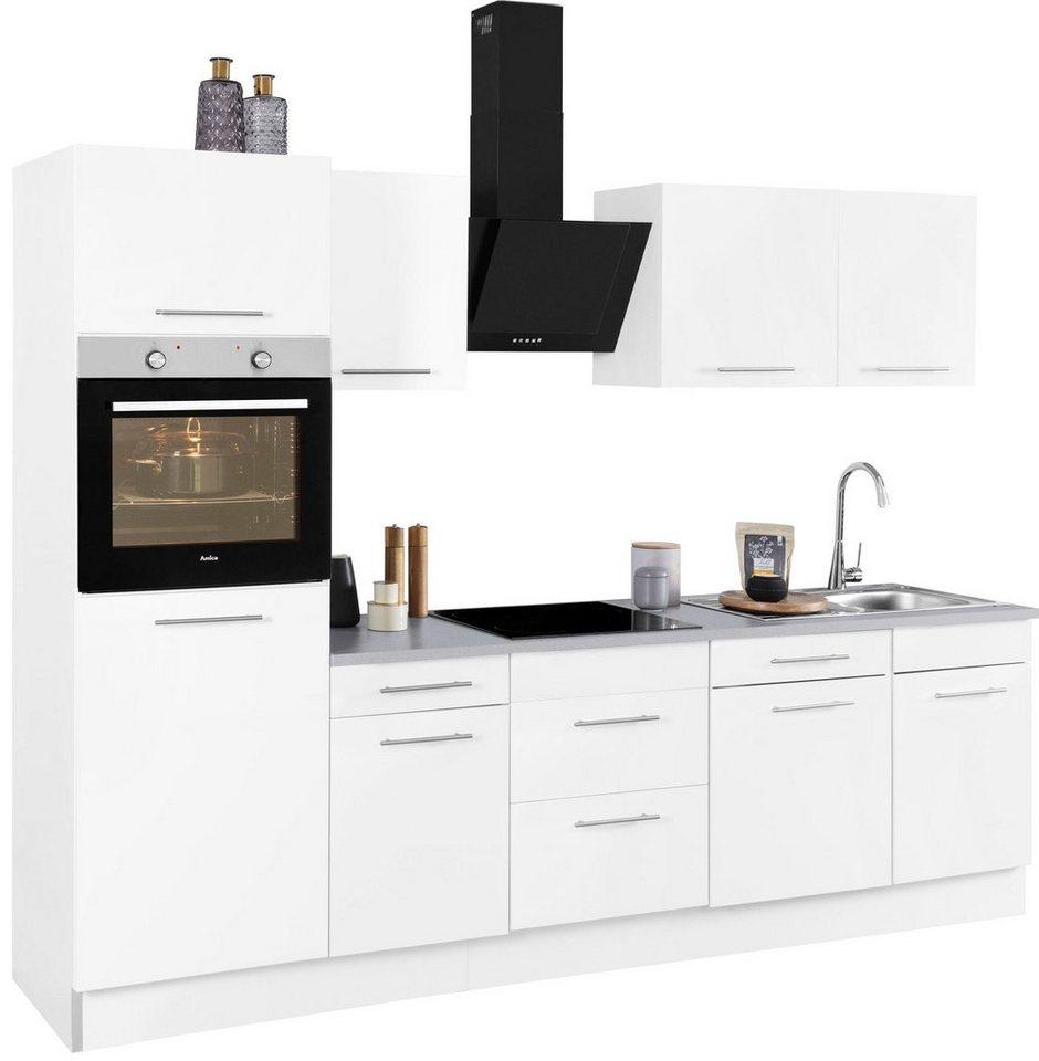 wiho k chen k chenzeile ela mit e ger ten breite 280. Black Bedroom Furniture Sets. Home Design Ideas