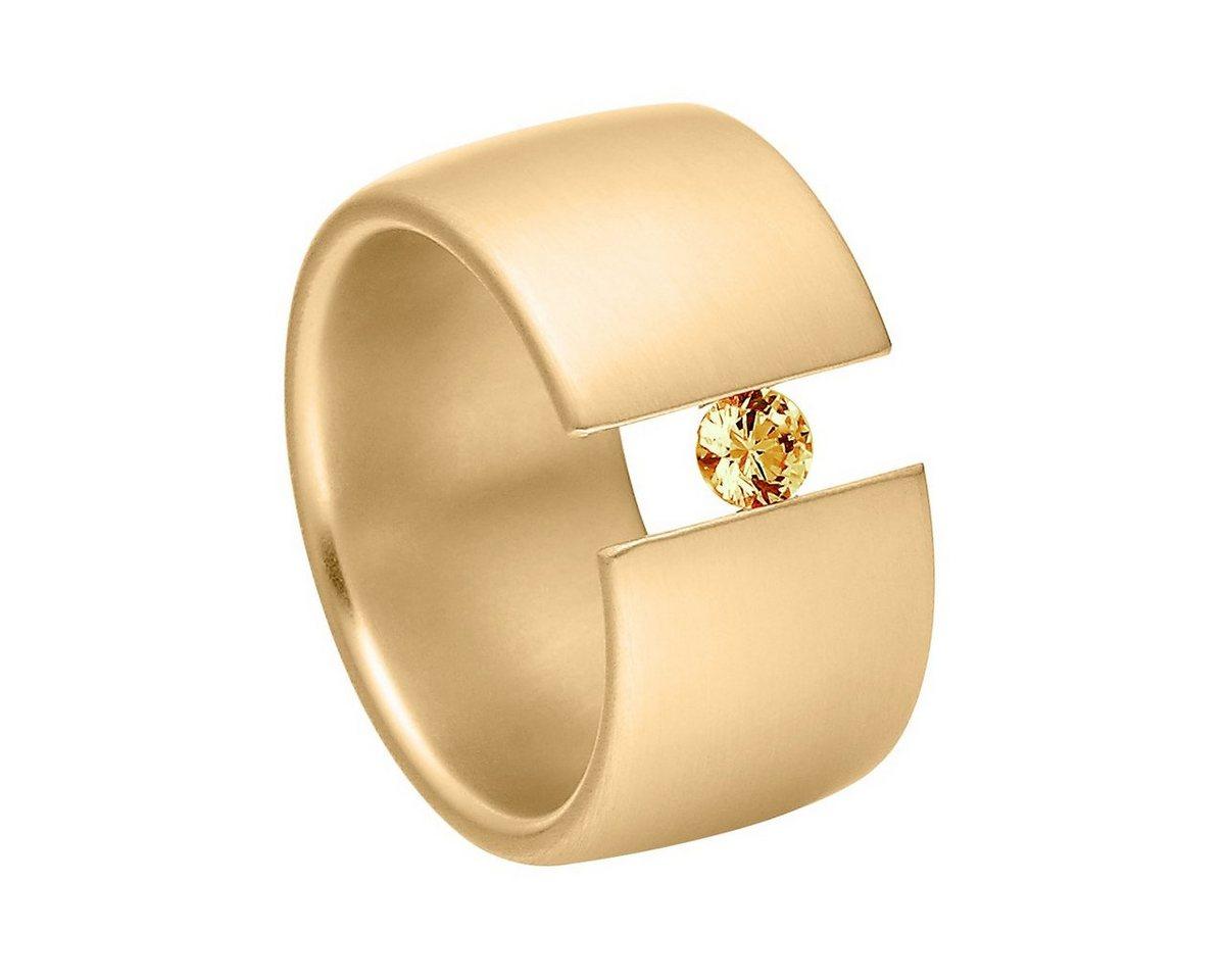 Heideman Fingerring »Elegantia 12 Gold« Ring mit Stein als Spannring gearbeitet   Schmuck > Ringe   Braun   Heideman
