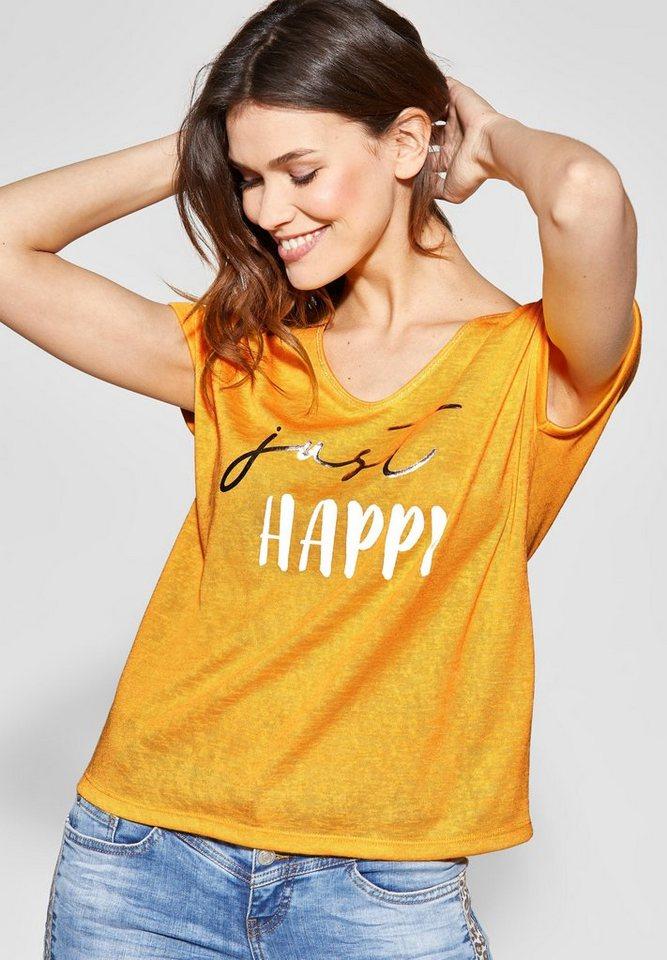 322f90d8e8ccea STREET ONE T-Shirt Wordingprint mit Metallic-Effekt online kaufen