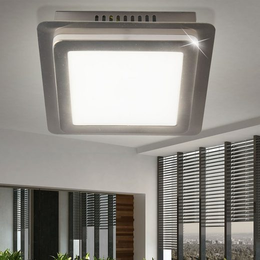 WOFI Deckenstrahler, LED Decken Lampe Arbeits Zimmer Leuchte Büro Strahler silber A WOFI 9889.01.64.0000