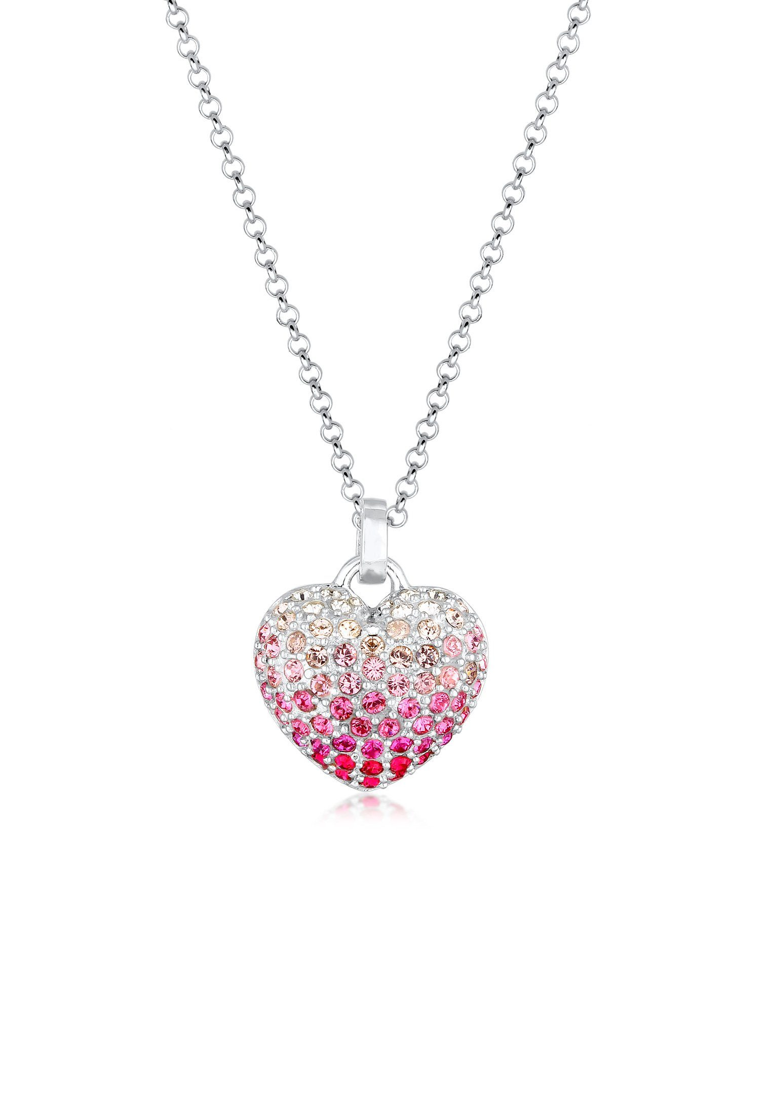 Nenalina Collierkettchen »Herz Anhänger Swarovski® Kristalle Pink 925 Silber« online kaufen | OTTO
