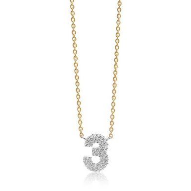 Sif Jakobs Jewellery Halskette mit Zahlen-Anhänger »NOVOLI TRE«