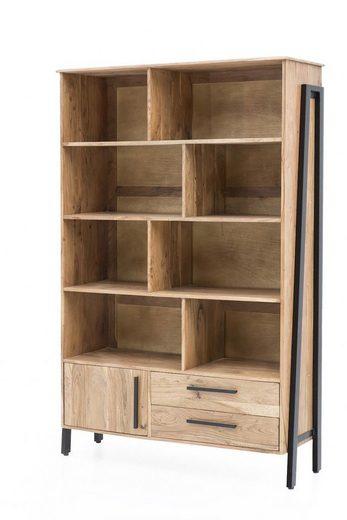 KAWOLA Bücherregal aus Akazienholz »SELMO«
