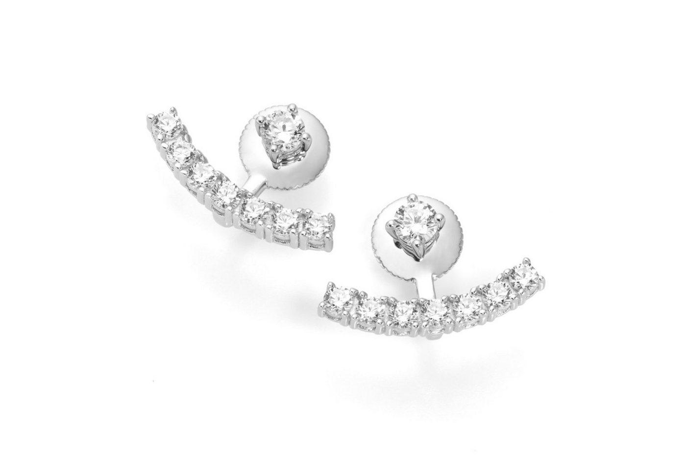Smart Jewel Paar Ohrstecker »2-teilig mit Zirkonia Steinen«   Schmuck > Ohrschmuck & Ohrringe > Ohrstecker   Weiß   Smart Jewel